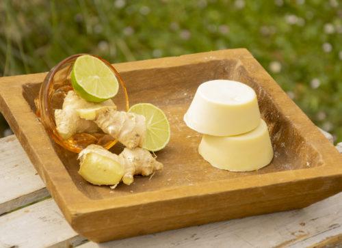 savons base gingembre et citron vert